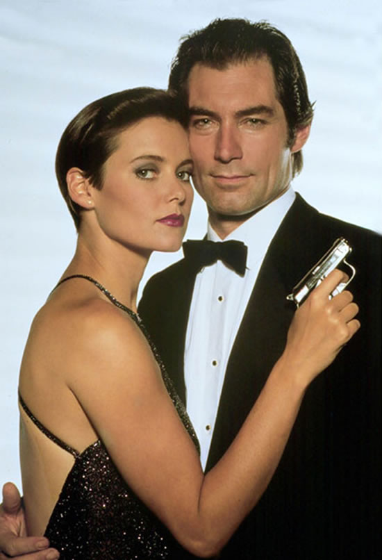 Carey Lowell as Pam Bouvier with Tomothy Dalton as Bond in Licence to Kill in 1989