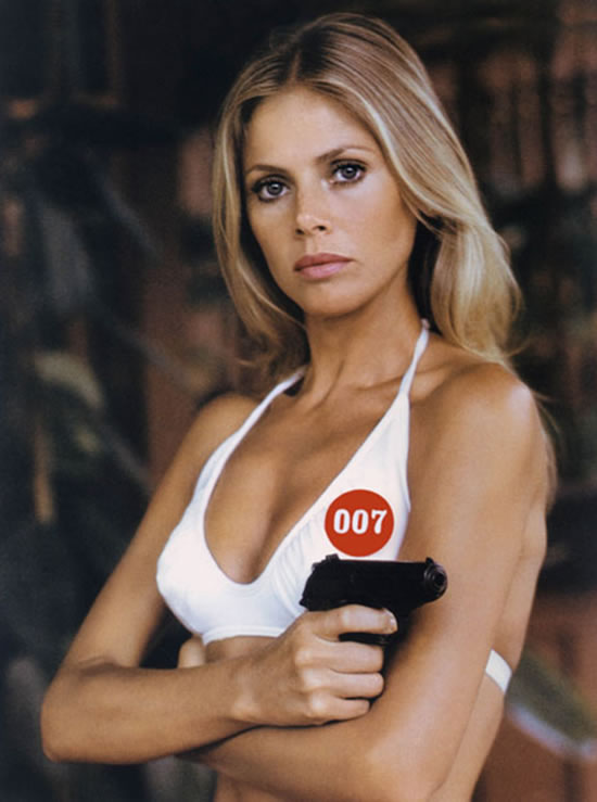 Britt Ekland as Mary Goodnight in The Man with the Golden Gun in 1974