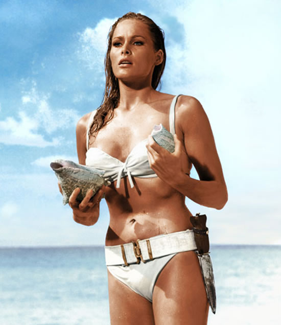 Ursula Andress as Honey Rider in Dr. No in 1962